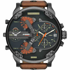 Diesel Men's DZ7332 Mr Daddy 2.0 Stainless Steel Watch With Brown Leather Band