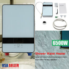 6500W Tankless Instant Electric Hot Water Heater + Shower Head Set Bathroom 110V
