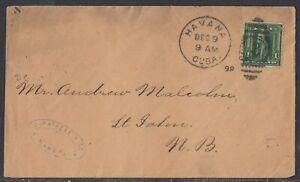 1Caba - Dec 9, 1899 Cover to Canada