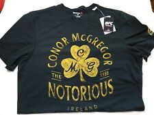 Reebok UFC Notorious Conor McGregor T-SHIRT Black Official M Size MMA