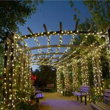 200 LED Solar Powered Warm White Fairy String Strip Light Garden Party Lamp Xmas