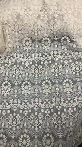 Retro Floral Cotton Embroidery Lace Fabric Sold By 1 yard For DIY Wedding Dress