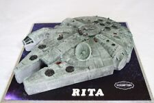 Personalised Birthday/Celebration Cake Star wars Millennium falcon made to order