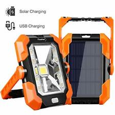 Finether Solar Work Light Led Flood Light Rechargeable Power Bank with Solar