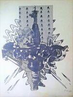 Lithography by Juan Boza. Untitled, 1973. Original signed by Boza.