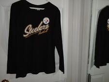 Pittsburgh Steelers Football Black Top Junior's Size Large