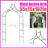 8.5ft Outdoor Garden Arch Arbor Wedding Trellis Climbing Plants Iron Gate Decor