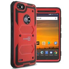 For ZTE Blade Force Red Case Protective Armor Hard Shockproof Phone Cover