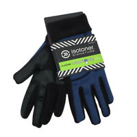 New Isotoner Signature Womens Gloves Smart Touch One Size In Black Blue