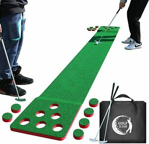 NEW 2-FNS Golf Game Play Set, 11'5 Golf Putting Green Mat for Indoor Outdoor Go