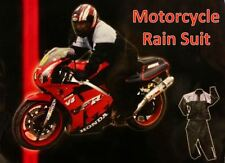 New Mean Machine Motorcycle Rain Suit Set Size XXL Motorbike Two Piece Clothing