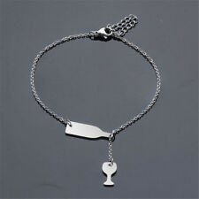 Trendy Stainless Steel Wine bottle Cup Pendant Necklace Creative Chain Necklace