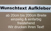 Wunschtext Aufkleber Auto Domain Beschriftung Schriftzug von 20 bis 200cm MATT