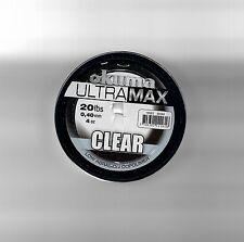 Okuma Ultramax Copolymer Carp Pike Sea Fishing Line Bulk 4oz Spool 20lb Clear