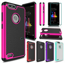 Shockproof Phone Case + Tempered Glass Screen Protector for ZTE Blade Z Max Z982