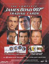 JAMES BOND THE COMPLETE MASTER SET AUTOGRAPHS RELICS CASE INCENTIVES BONUS+++
