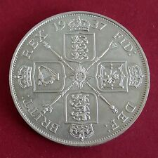 More details for 1937 edward viii hallmarked silver proof pattern double florin