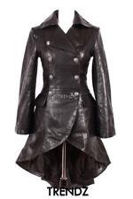 Cappotti e giacche da donna in pelle trench con bottone