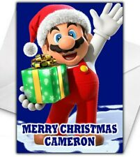 SUPER MARIO Personalised Christmas Card - Super Mario Christmas Card