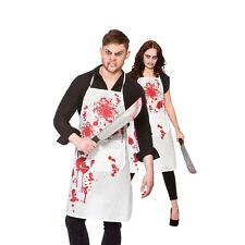 Blood Splattered Halloween Bloody Apron Accessory Butcher Killer Chef Unisex