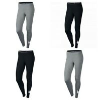 Nike Womens Leggings Yoga Pants Running Ladies Sports Training Swoosh Black Grey