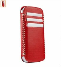SENA LEATHER POUCH FOR Samsung Galaxy S3 Lusio Red/White New