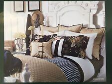 NIP ~Ralph Lauren Charleston Chino Quilted Sham ~ Luxurious Gold Buttons