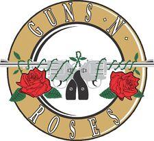 Gun and Roses Music Vinyl Sticker 4 stickers