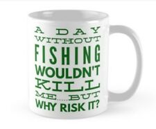 Carp, pike, fishing mug perfect present gift for a fisherman who loves his rod