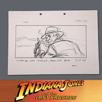 INDIANA JONES & THE LAST CRUSADE, Production Used Storyboard, Indy on Horse