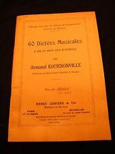 Partition 60 Dictées Musicales Armand Bournonville