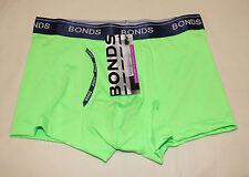 Bonds Mens Fresh Kiwi Green Coloured Microfibre GuyFront Trunk Brief Size S New
