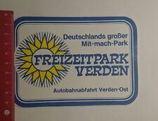 Aufkleber/Sticker: Freizeitpark Verden (28111636)