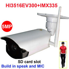 CamHi 5MP Humanoid Recognition Wireless IP Camera Bullet SD Card IR MIC Speaker