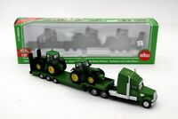 Siku 1837 Low Loader With 2 John Deere Tractors 1:87 Toys Car Collection Models