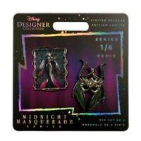 ✨ IN-HAND NEW! Maleficent Midnight Masquerade Designer Series Disney Pin Set LR