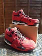 RARE Nike Air Flight 89 Basketball Retro Trainers Gym Red Suede Size 7 ref26P0