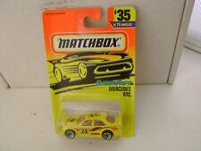 1996 MATCHBOX SUPERFAST #35 YELLOW MERCEDES-BENZ GTC RALLY CAR NEW ON CARD