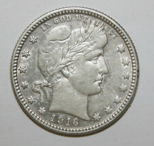 1916 D BARBER QUARTER  WX9