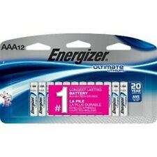 Energizer Ultimate Lithium AAA Batteries 12 Pack Exp. 2038-2039 Factory Sealed