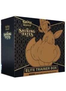 Pokemon Shining Fates Elite Trainer Box Factory Sealed 🔥  FREE 🚚PRIORITY