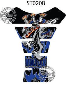 Mad Az F**K Blau 3D Gel Motorrad Moto Grafik Xtank Polster Schutz Suzuki / Yamah