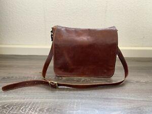 Lehrertasche Studententasche Schultasche in Braun aus Leder