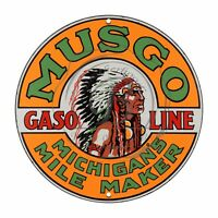Vintage Design Sign Metal Decor Gas and Oil Sign - Musgo Michigan's Gasoline