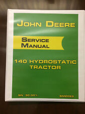 John Deere 140 Hydrostatic Tractor Service Manual Book Shop Manual