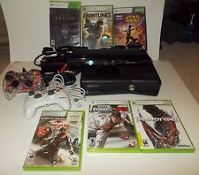(Video) Xbox 360 S Console 250GB Model: 1439, Kinect, 6 Games, 2 Controllers