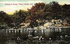 AR -  1910's Bathing and Boating in Sulphur Springs, Arkansas - Benton County