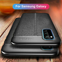 For Samsung Galaxy Note 20/20 Ultra Hybrid Carbon Fiber Soft Silicone Cover Case