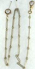 Love Knot Watch Chain 13.5 Inches Victorian Antique 14K White Yellow Gold
