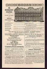 1890 International Cyclopedia & Young Ladies Journal Vintage Advertisement